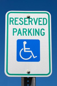 disabled motorist parking sign