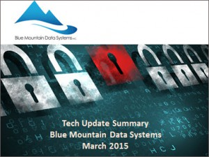 Blue Mountain Data Systems Tech Summary March 2015
