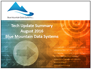 August 2016 Tech Summary Update Cover Art