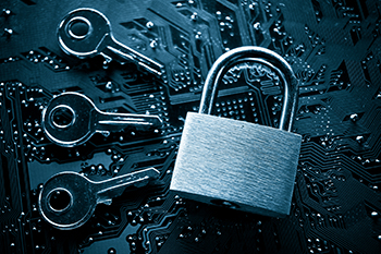 Lock and 3 keys encryption photo
