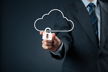 Image of CTO, CIO & CISO with cloud padlock