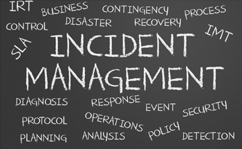 Incident Management Phrase Written on Blackboard