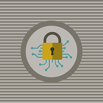 Cyber security flat icon vector graphic design