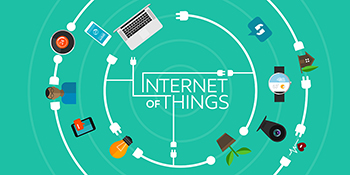 Internet of Things flat iconic illustration thing object