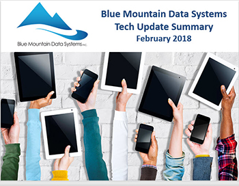 Blue Mountain Data Systems Powerpoint Cover February 2018