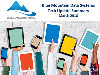 Blue Mountain Data Systems Tech Summary Powerpoint Cover March 2018