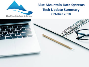 Blue Mountain Data Systems October 2018