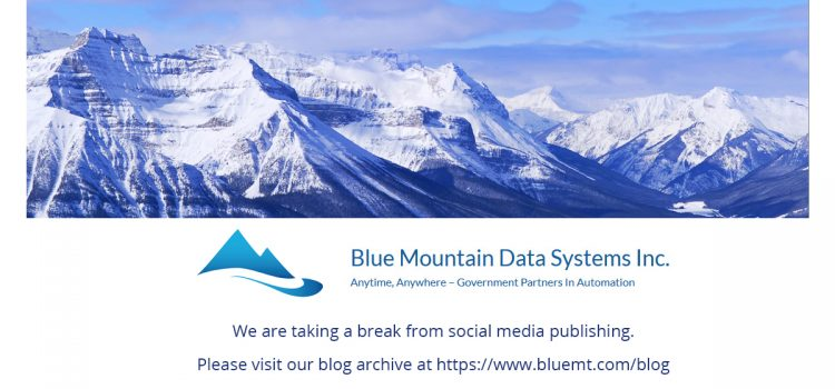 SPECIAL ANNOUNCEMENT from Blue Mountain Data Systems